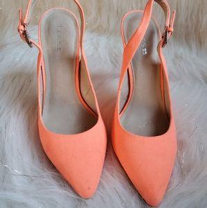 Joe's Neon Orange Strap Heels size 8.5